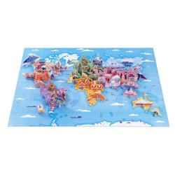 Puzzle éducatif- les curiosités du monde - 350 P - JANOD