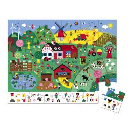 Puzzle d'observation - la ferme 24 Pcs  - JANOD