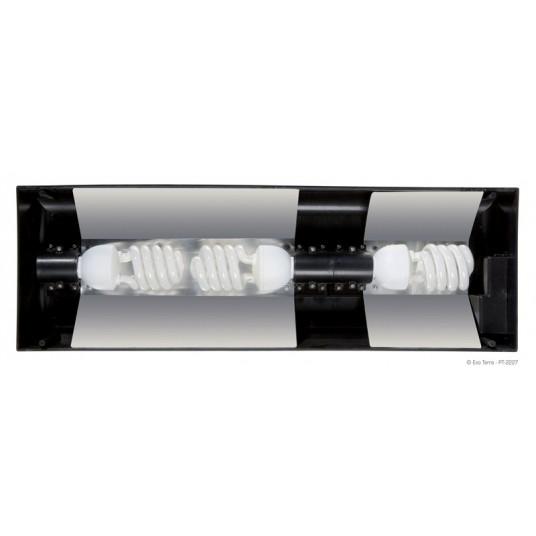 Rampe d'éclairage fluorescent Exo Terra - 60x9x20cm