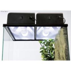 Rampe compacte d'éclairage fluo pour terrarium - Exo terra - 60x9x20cm