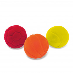 Set de 3 mini balles sport - RUBBABU