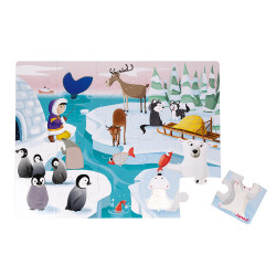 Puzzle tactile - La vie sur la banquise - 20Pcs - JANOD