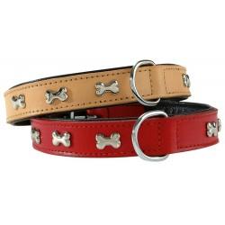Collier pour chien en cuir Extra Souple rouge - 40cm