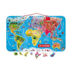 Puzzle monde magnétique version française - JANOD