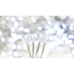 Rideau LED effet digital 5m blanc pur - BLACHERE