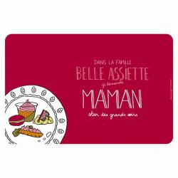 Set de table EMATCH Belle assiette Maman - DLP