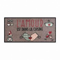 Tapis de cuisine APSE L'amour est dans la cuisin - DLP