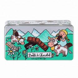 Boite à Chocolat Tablettes Alpes - DLP