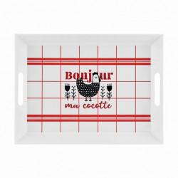 Plateau MATT Bonjour ma cocotte - DLP