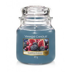 Bougie jarre MM Figues et mures gourmandes - YANKEE CANDLE