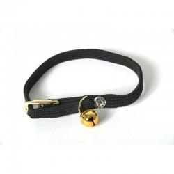 Collier pour chat nylon noir 30cm