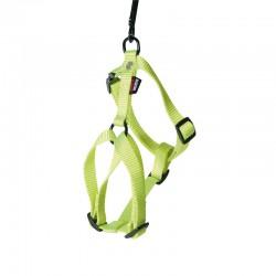 Harnais pour chien réglable nylon vert citron 50-70cm