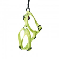 Harnais pour chien réglable nylon vert citron 70-90cm