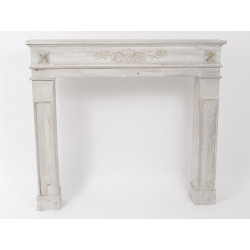 Foyer cheminée patiné 115cm - HOME EDELWEISS