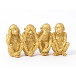 Goldy famille singes 20cm - HOME EDELWEISS