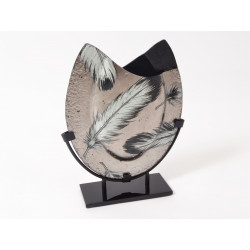 Plumage vase ovale 39cm - HOME EDELWEISS