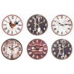 Tempo horloge 34cm ass - HOME EDELWEISS