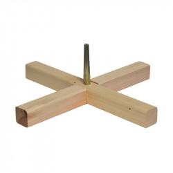 Croix 39 cm bois axe métal...