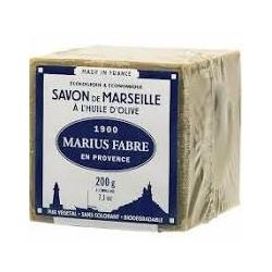 Savon de Marseille VERT 200 g à l'huile d'olive  - SAVONNERIE MARIUS FABRE