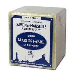 Savon de Marseille VERT 600 g à l'huile d'olive  - SAVONNERIE MARIUS FABRE