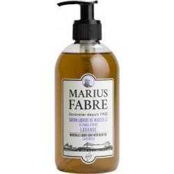 Savon Liquide de Marseille 400 ml pompe Lavande  - SAVONNERIE MARIUS FABRE