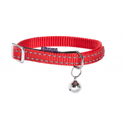 Collier chat safe 10cm nylon rouge - BOBBY
