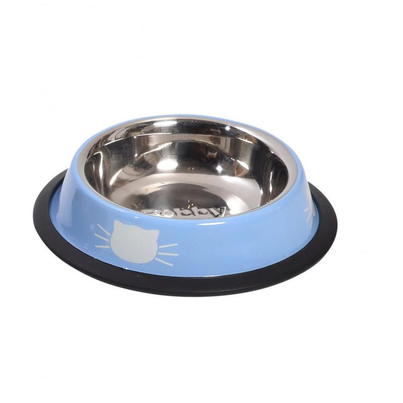 Gamelle tête de chat TU bleu/blanc - CANIFRANCE
