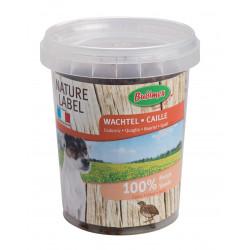 Friandise morceaux de viande de Caille seau 150g - BUBIMEX