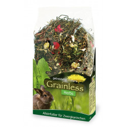 Aliment grainless herbes pour lapin nain 400g - JR FARM