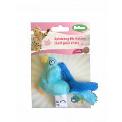Jouet oiseau en peluche contenant herbe à chat - BUBIMEX