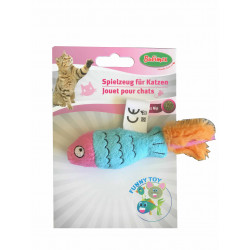 Jouet poisson en peluche contenant herbe à chat - BUBIMEX