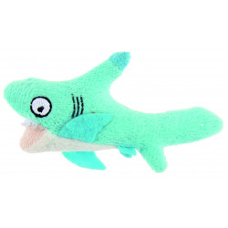 Jouet requin en peluche contenant herbe à chat - BUBIMEX