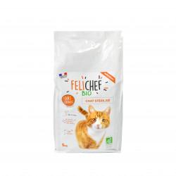 Croquettes BIO sans céréales Chat sterilisé 5kg - FELICHEF BIO