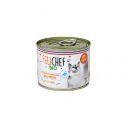 Mousse Saumon sans céréales Chat adulte 200g - FELICHEF BIO