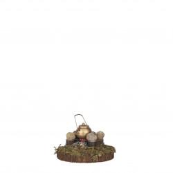 Village ancien accessoires pile 8x8-H5 marron - EDELMAN