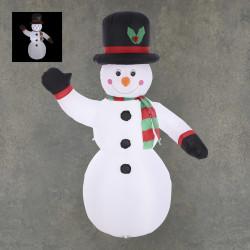 Bonhomme de neige gonflable LED 65x126-H200 - EDELMAN