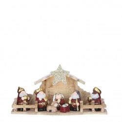 Crèche de Noël pile 10x30-H15 rouge - EDELMAN