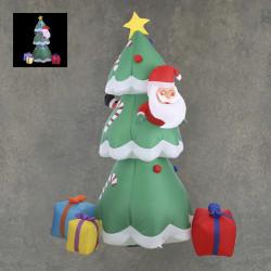 Sapin de Noël gonflable LED 140x190-H230 vert - EDELMAN
