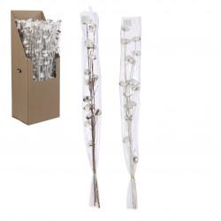 Branche fleurs 95cm blanc. marron - EDELMAN