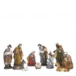 Crèche de Noël 11 pièces 3.5x5-H11 - EDELMAN