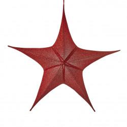 Etoile à suspendre 34x110-H95 rouge - EDELMAN