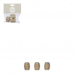 Village ancien accessoires 3 pièces ø2-H3 marron - EDELMAN