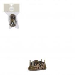 Village ancien accessoires 4x8-H4 marron - EDELMAN