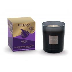 Bougie parfumée rechargeable Figue noire - ESTEBAN PARIS PARFUMS
