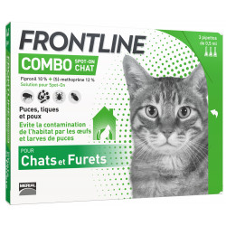 Pipettes antiparasitaires Combo chat 3x0.5ml - FRONTLINE