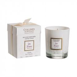 Bougie parfumée 250g iris blanc - COLLINES DE PROVENCE