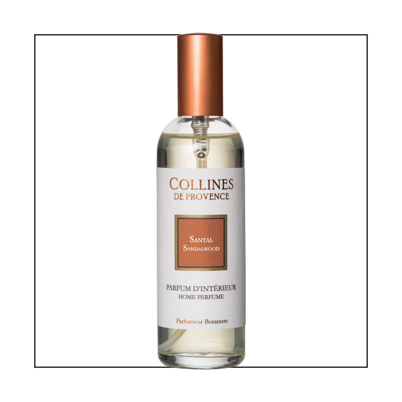 Parfum d'intérieur 100ml santal - COLLINES DE PROVENCE ...