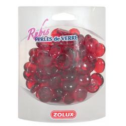 Perles de verre rubis 390g - ZOLUX