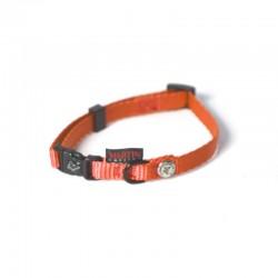 Collier pour chien réglable nylon orange TXS - 20-30cm