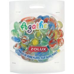 Perle verre plate agathe mixte - ZOLUX